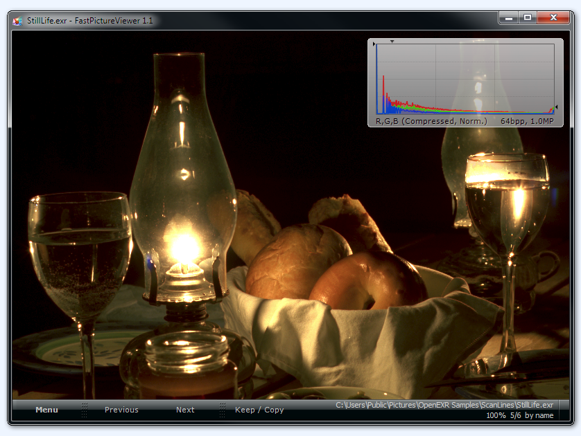 FastPictureViewer Professional In Action: OpenEXR 64bpp screenshot